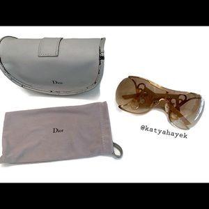 Vintage 💛 Dior Jumbo Cutout Sunglasses